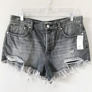 Free People | Loving Good Vibrations Shorts Black